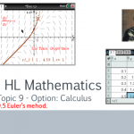 Euler's method. Numerical solutions to differential equations. HL Maths Option Calculus. TI Nspire.